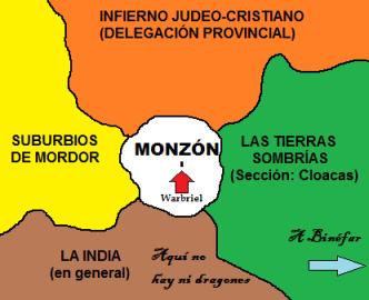 Mapa de Monzon