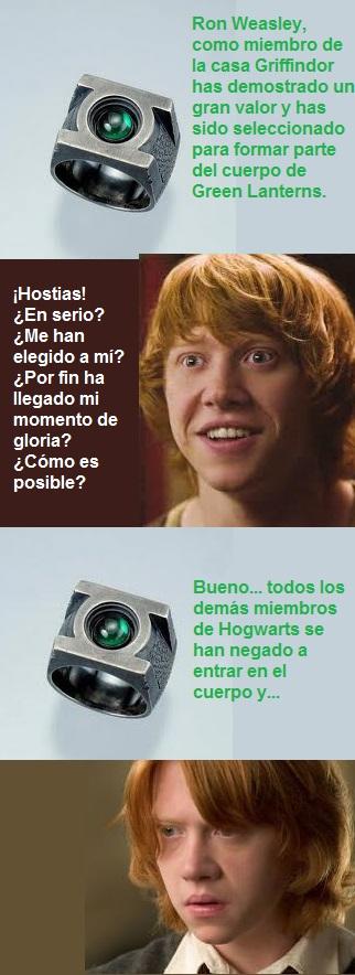 Ron Weasley Green Lantern